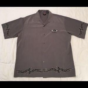 Harley Davidson Bowling Shirt Hawaii Tribal Vint.